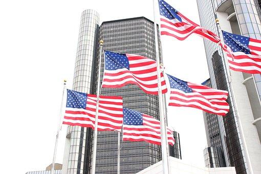 Detroit, American Flag, Flags, American, Michigan, Usa