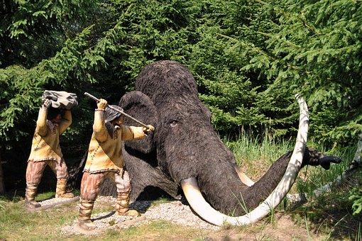 Sculpture, Animal Sculpture, Woolly, Urzeittier