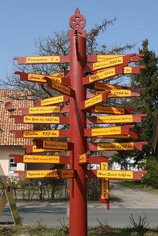 Directory, Direction, Arrows, Away, Shield, Waymarks