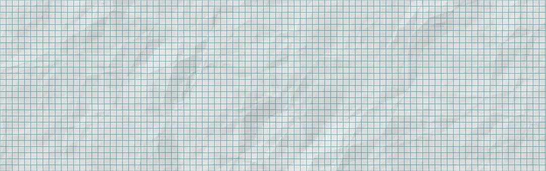 Banner, Header, Graph Paper, Squared Paper, Crumpled