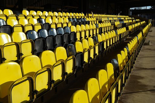 Chairs, Grandstand, Fans, Club, Attendance, Background