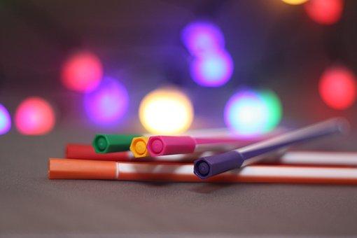 Pen, Bokeh, Color, Flare, Focus, Depth Of Field