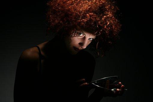 Woman, Hair, Crazy, Psycho, Curly, Psychopath, Reddish