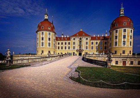 Castle, Moritz Castle, Building, Hunting Lodge