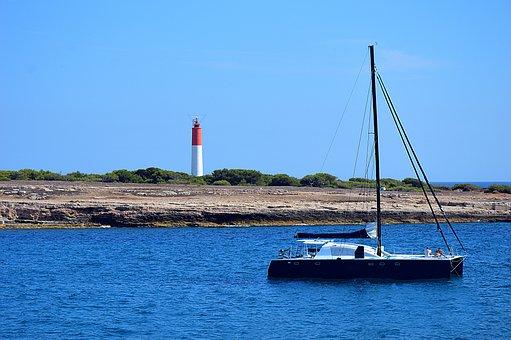 Catamaran, Boat, Sailboat, Blue, Sea, Mediterranean