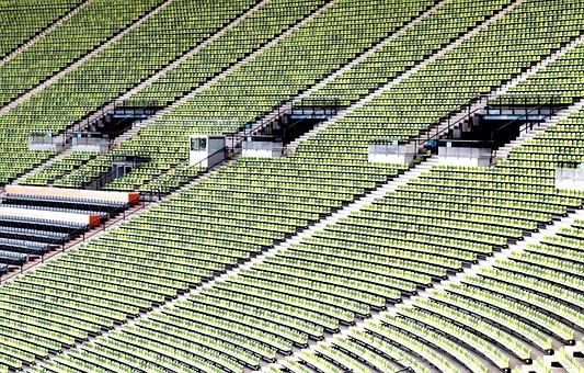 Olympic Stadium, Munich, Sit, Stadium, Plastic