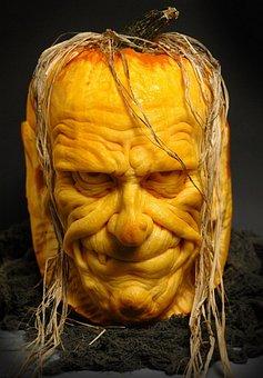 Sculpted, Pumpkin, Halloween