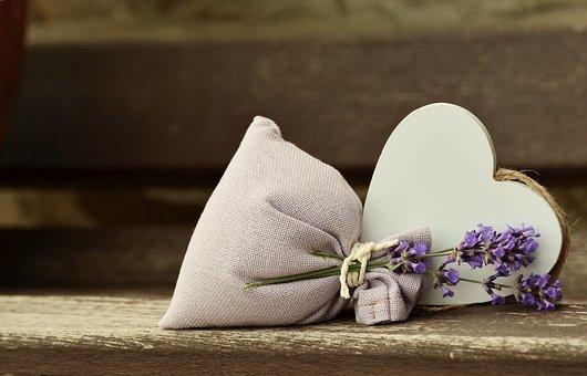 Lavender, Fragrance, Romantic, Heart, Lavender Bag