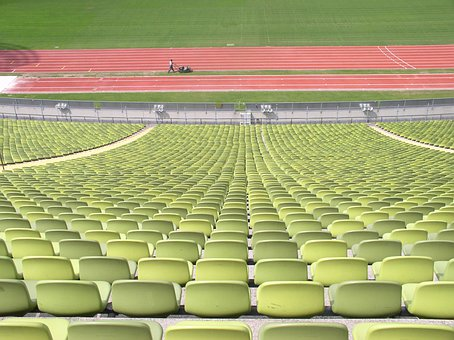 Rows Of Chairs, Rows Of Seats, Oympiastadion, Green