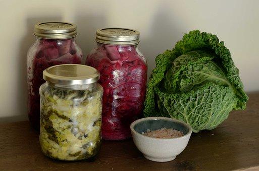 Sauerkraut, Fermented, Cabbage, Vegetable, Fermentation