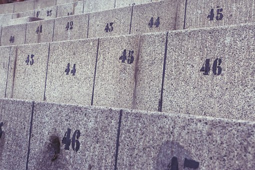 Seat Numbers, Concrete, Seats, Cement, Numbers, Empty