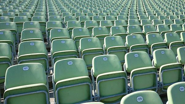 Grandstand, Audience, Sit, Chairs, Chair, Series, Signs