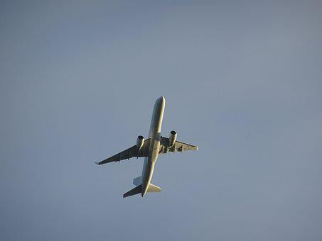 Aircraft, Engine, Airliner, Side Light, Wing