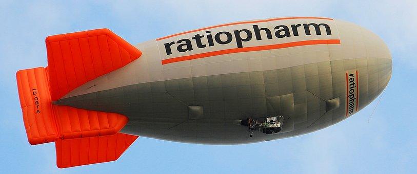 Zeppelin, Airship, Aircraft, Sky, Aviation, Slightly