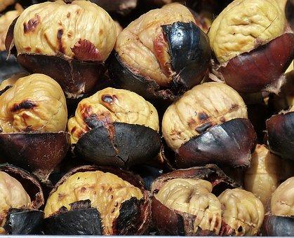 Chestnuts, Chestnut, Fruit, Nut, Snack, Roasted, Roast
