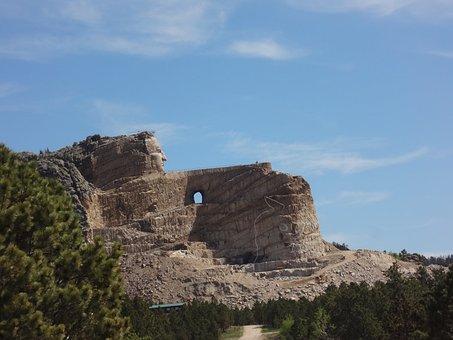 Monument, Crazy Horse Memorial, South Dakota, Custer