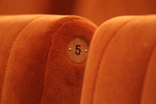 Five, Number, Theater, Space, Seat, Chair