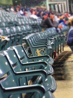 Stadium, Baseball, Seats, Sports, Chairs, Green