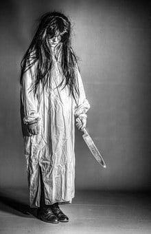 Scary, Girl, Crazy, Knife, Unpleasant, Bad Atmosphere