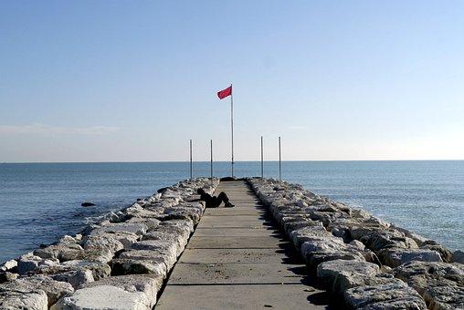 Venice, Road, The Old Man, Sea, Beach