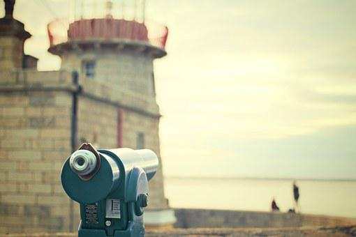 Spyglass, Telescope, Castle, Observe, Vacations, Zoom