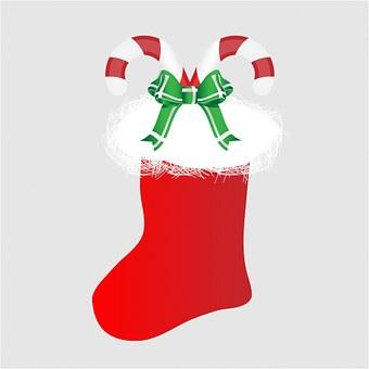 Christmas Stocking, Christmas, Stocking, Candy Cane