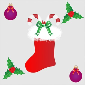 Christmas Stocking, Stocking, Christmas, Candy Cane