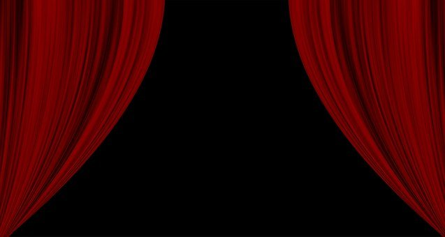 Curtain, Cinema, Red, Theater