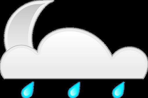 Nightime, Cloud, Rain, Illuminated