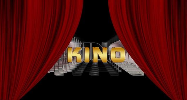 Cinema, Theater, Curtain, Red, Curtain On, Presentation