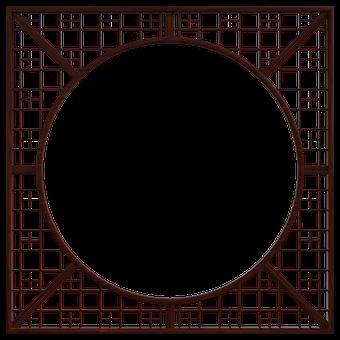 Oriental, Room, Divider, Wooden, Open
