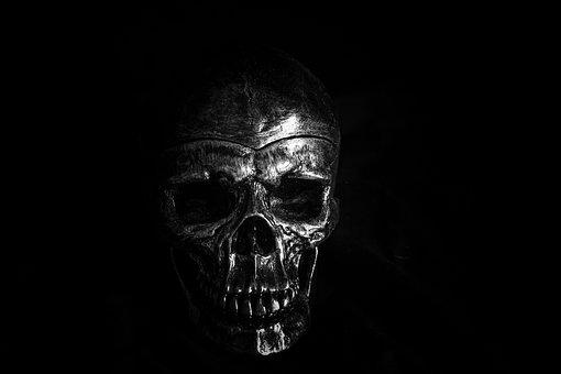 Skull, Dark, Scary, Horror, Skeleton, Creepy, Death