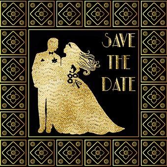 Wedding, Invitation, Save The Date