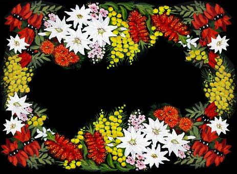 Folk Art, Australian, Wild Flowers, Painting, Hobby