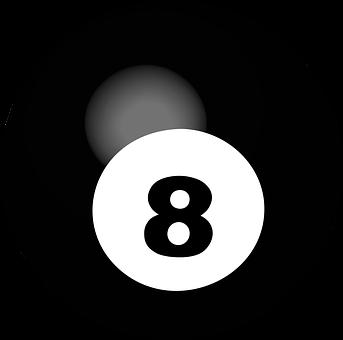 Pool Ball, Number 8, Sphere, Ball, Game, Billiard, 3d