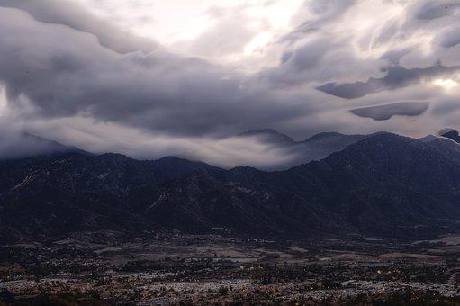 Cloudy, Landscape, Mountain, Nature, Clouds, Sky, Hill