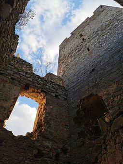 Castle, Ruin, Middle Ages, Window, Tower
