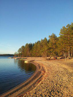 Beach, Water, In The Summer, Nature, Blue, Lake