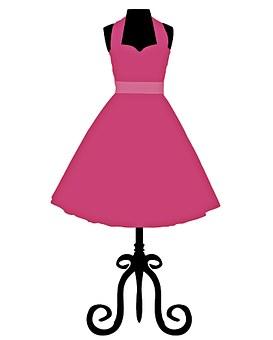 Dress, Dress Form, Pink, Girly, Fashion, Female, Style