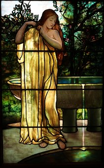 Tiffany, Stained Glass, God, Dawn