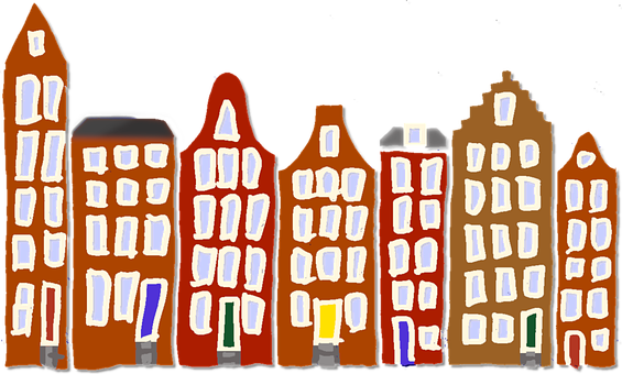 Houses, Fronts, Peace, Amsterdam, Canal