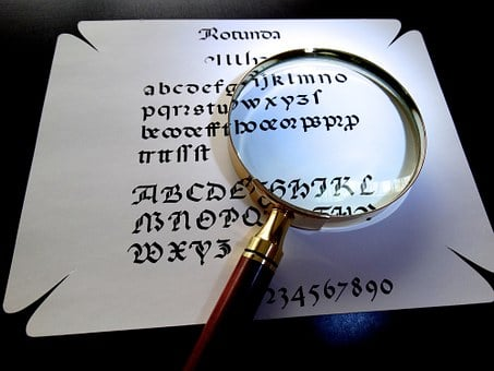 Magnifying Glass, Calligraphy