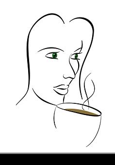 Coffee, Outline, Drink, Cup, Design, Espresso, Logo