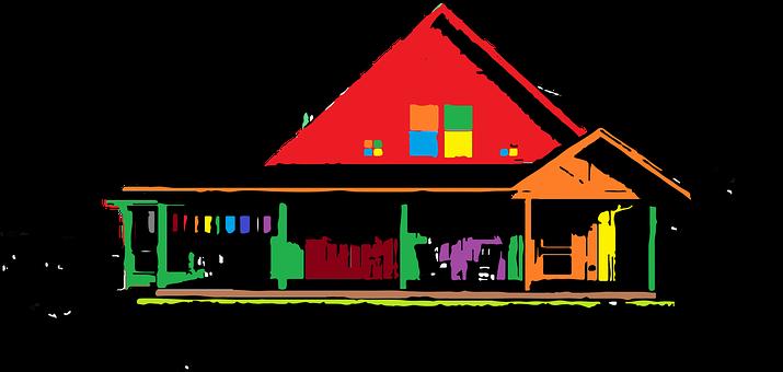 Farm House, House, Christmas Tree, Farm, Rural