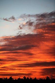 Sunrise, Sunset, Morning, Sky, Nature, Landscape