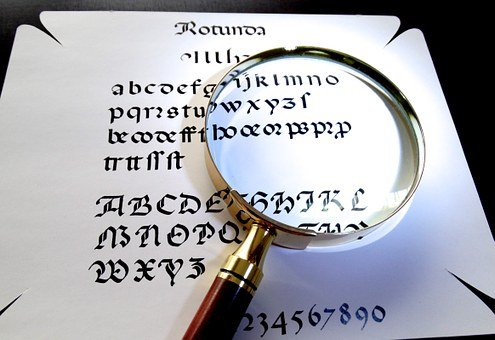 Magnifying Glass, Calligraphy, Larger View, See Better