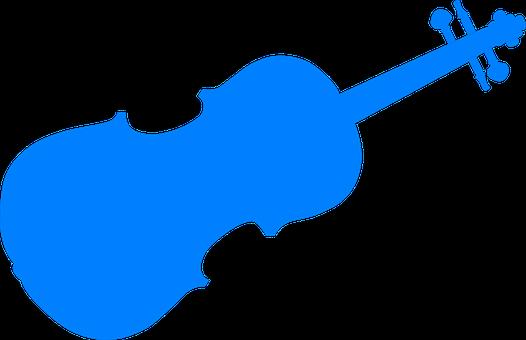 Blue, Violin, Silhouette, Music, Instrument, String