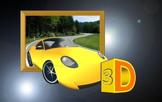 Auto, Road, 3d, Three Dimensional, Design