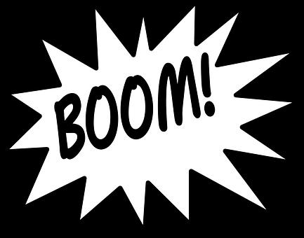 Comics, Boom, Sound, Hit, Explosion