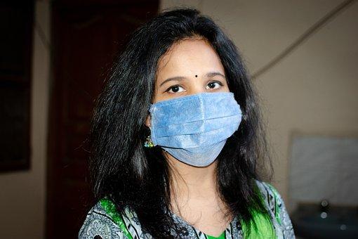 Mask, Sanitizer, Girl, Corona, Covid-19, Quarantine